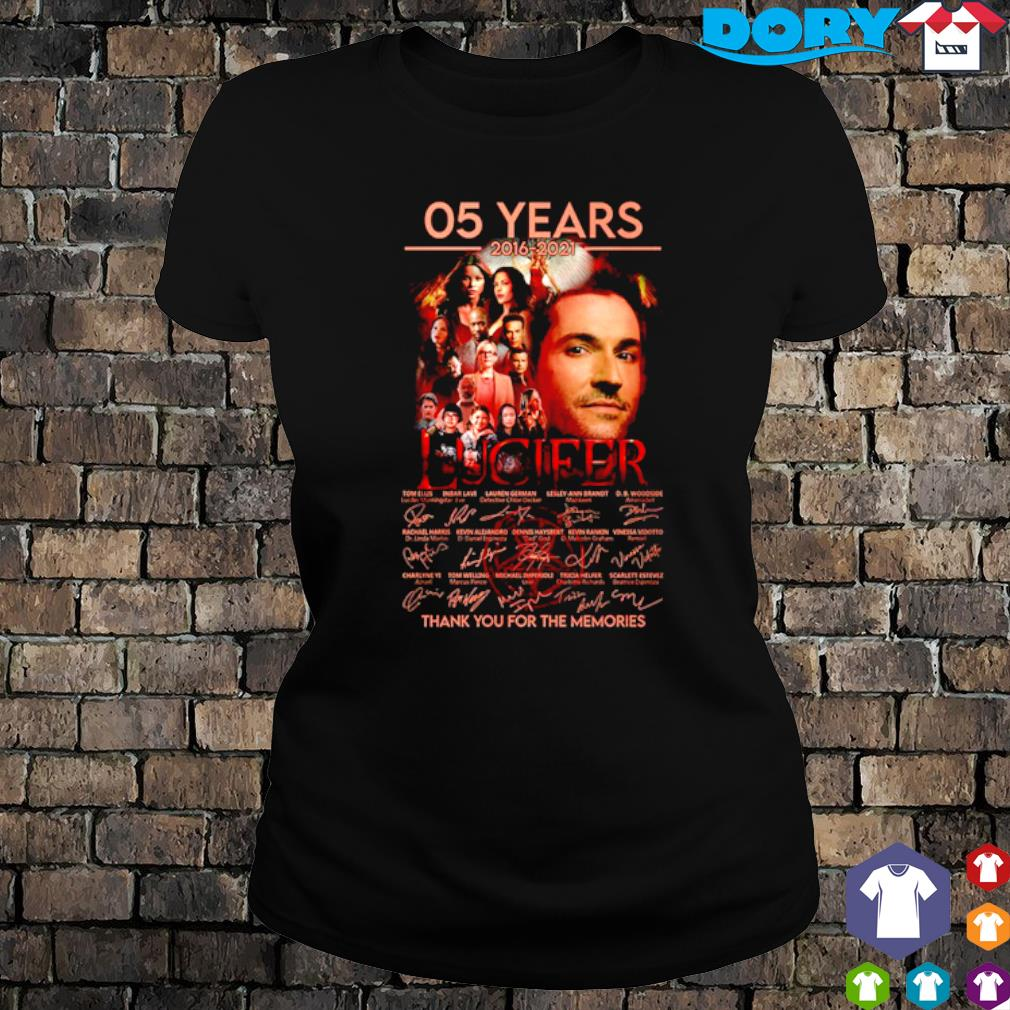 05 years of Lucifer 2016 2021 thank you for the memories s ladies tee