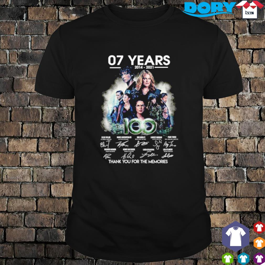 07 years of The 100 thank you for the memories shirt