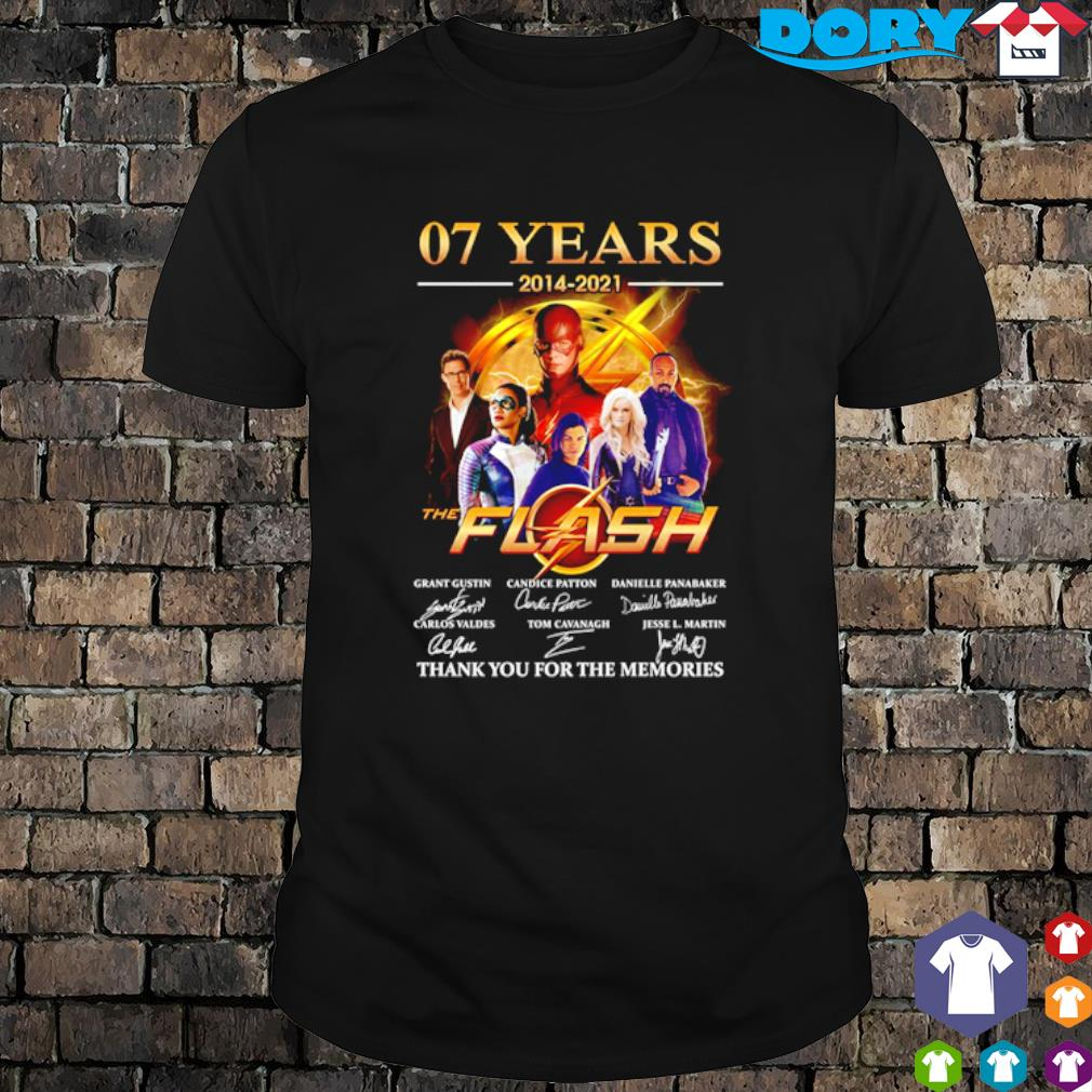 07 years of The Flash 2014 2021 thank you for the memories shirt