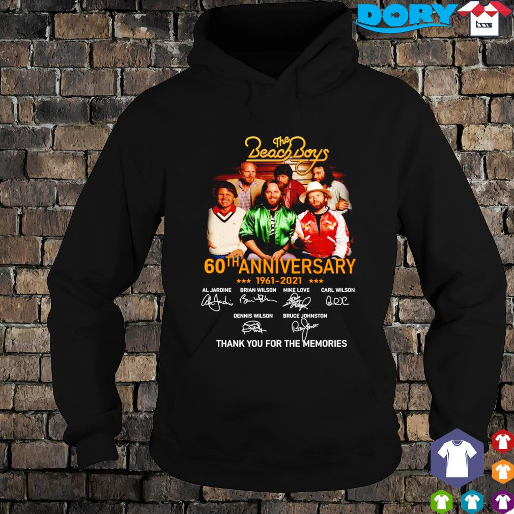 The Beach Boys 60th Anniversary 1961 2021 characters signature s hoodie