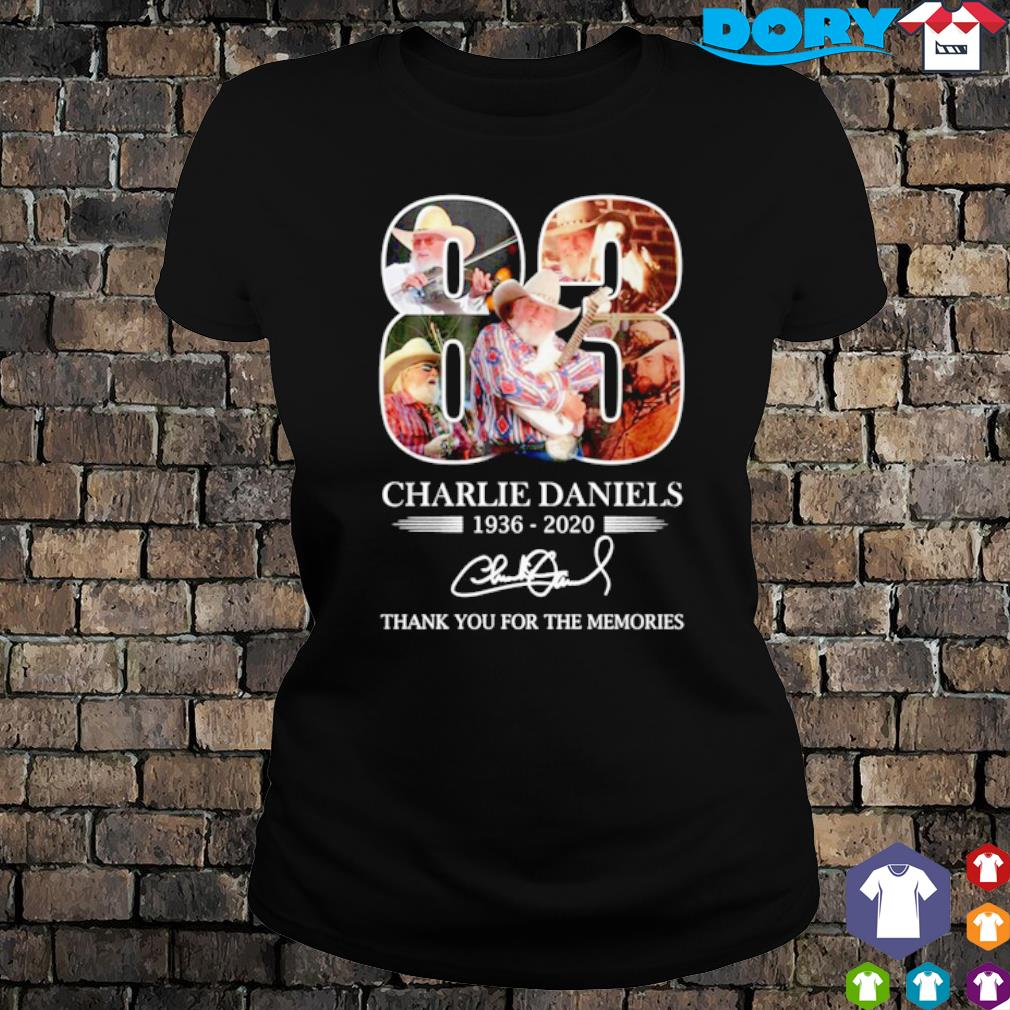 83 years of Charlie Daniels 1936 2020 thank you for the memories s ladies tee