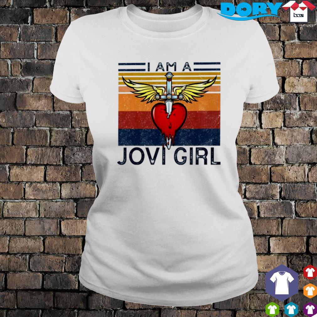 I am a Jovi Girl vintage s ladies tee