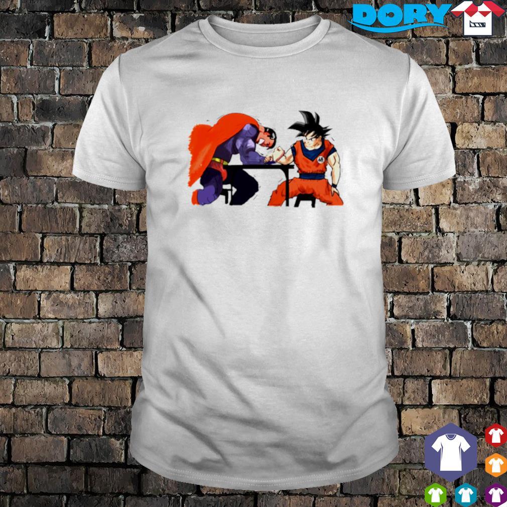 Son Goku vs Superman Arm-Wrestling shirt