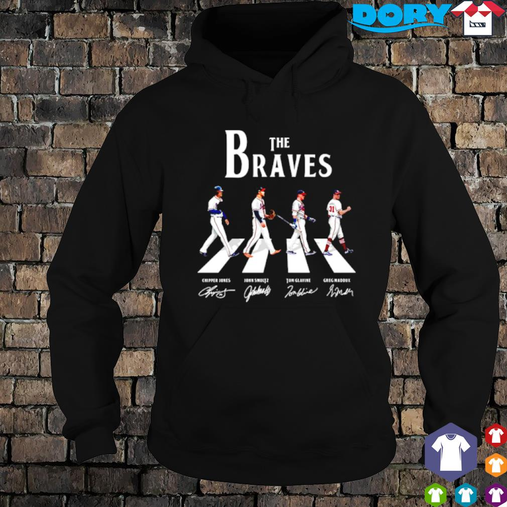 The Braves Walking Road signature Shirt hoodie