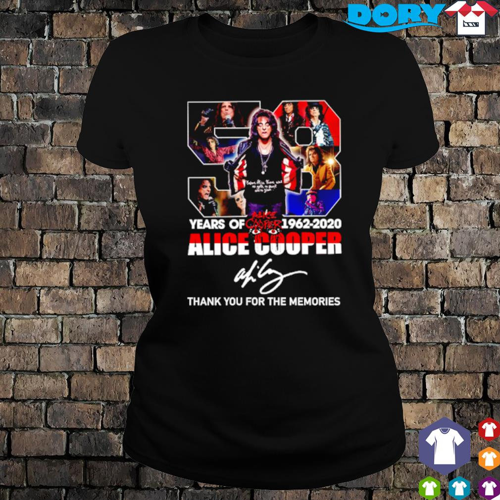 58 years of Alice Cooper 1962 2020 thank you for the memories s ladies tee