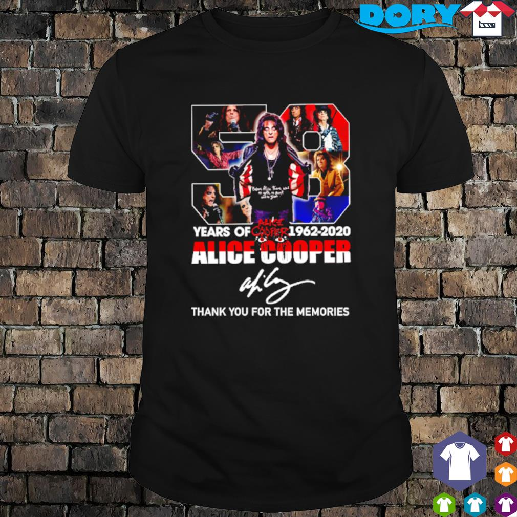 58 years of Alice Cooper 1962 2020 thank you for the memories shirt