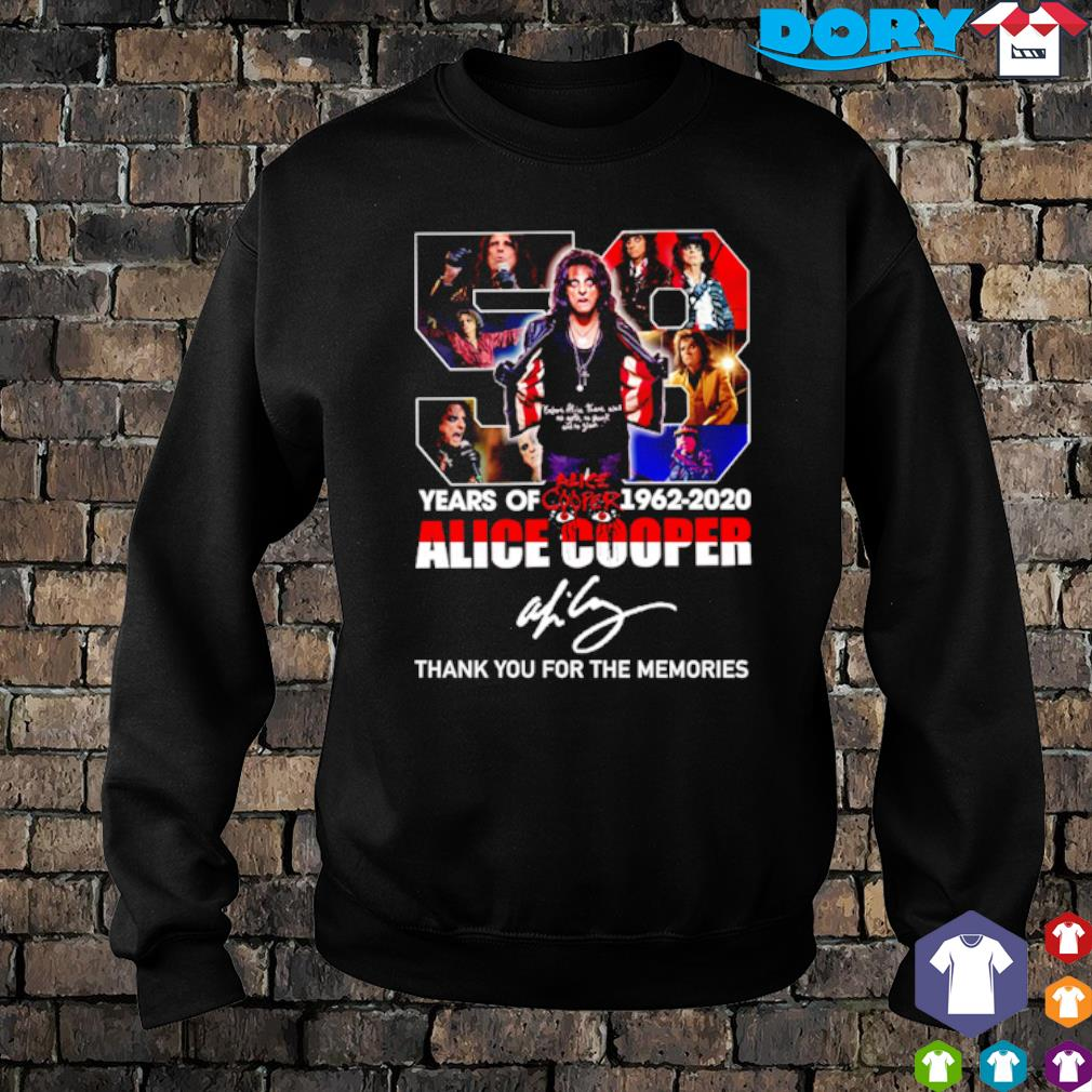 58 years of Alice Cooper 1962 2020 thank you for the memories s sweater