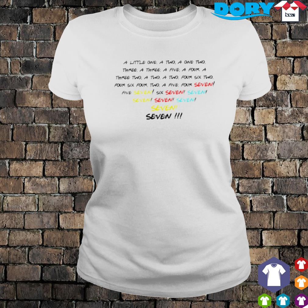 A little one a two a one two three a three a five s ladies tee