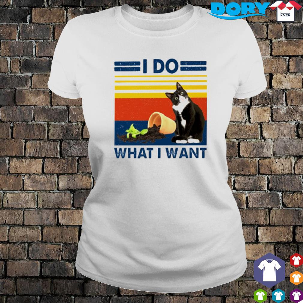 Cat I do what I want vintage s ladies tee