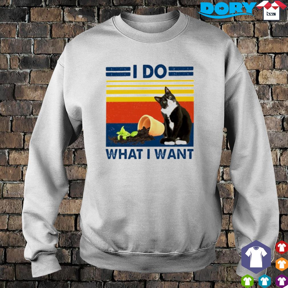Cat I do what I want vintage s sweater