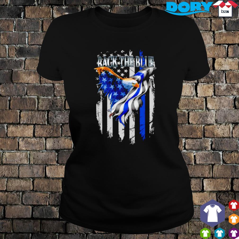 Eagle Thin Blue Line back the blue s ladies tee