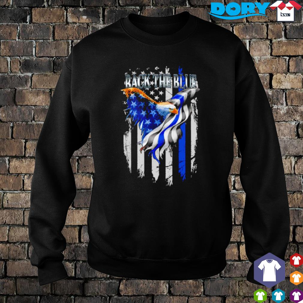 Eagle Thin Blue Line back the blue s sweater