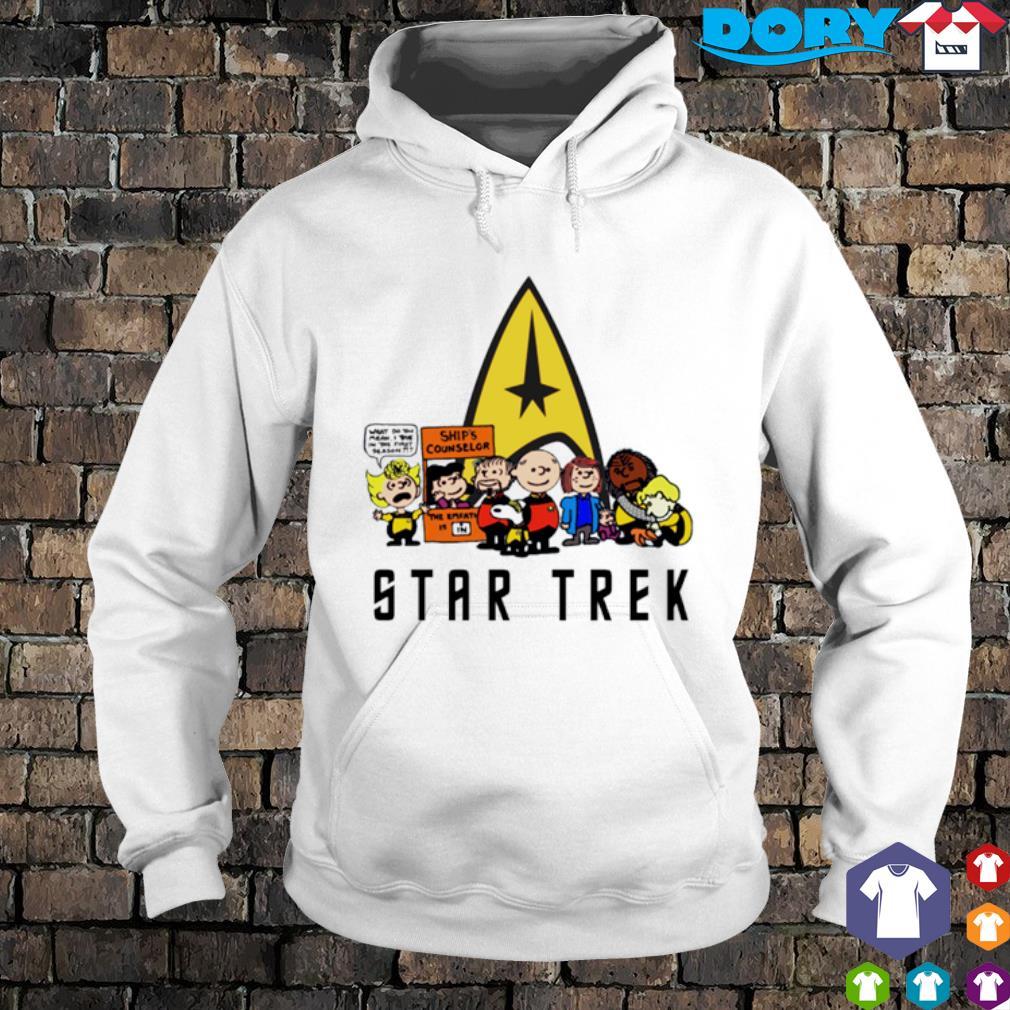 Peanuts characters Star Trek s hoodie