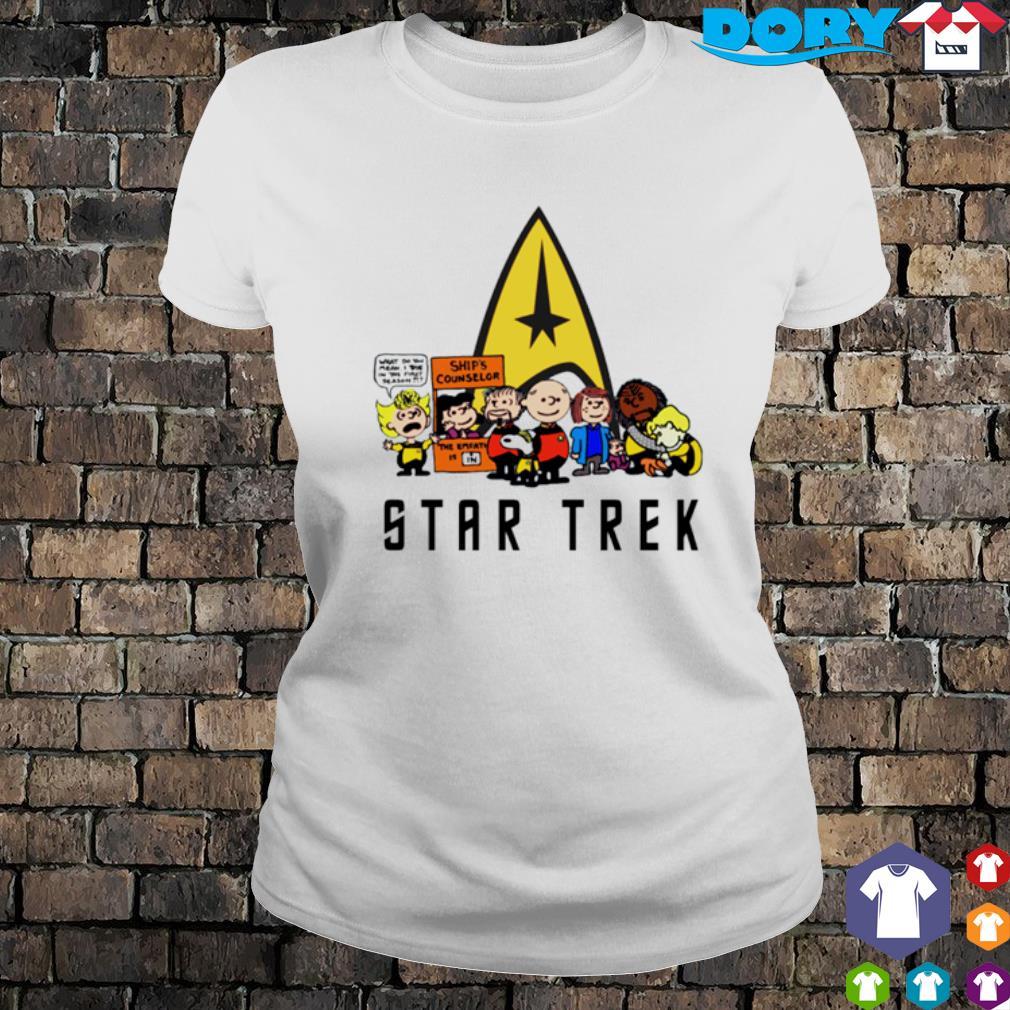 Peanuts characters Star Trek s ladies tee