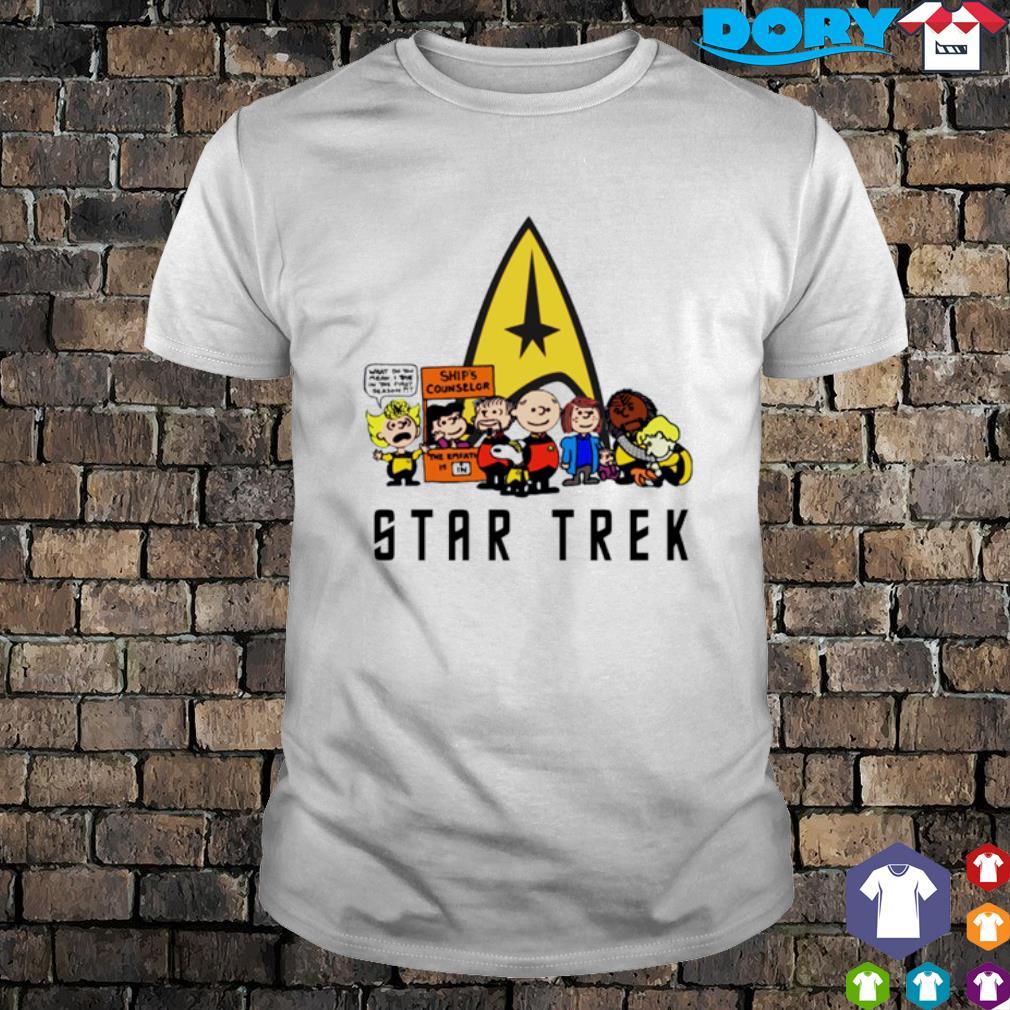 Peanuts characters Star Trek shirt