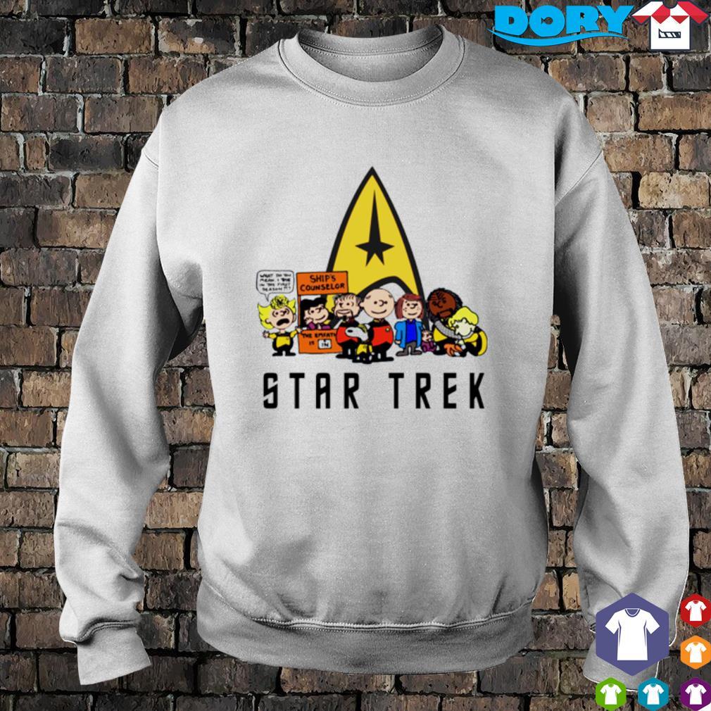 Peanuts characters Star Trek s sweater