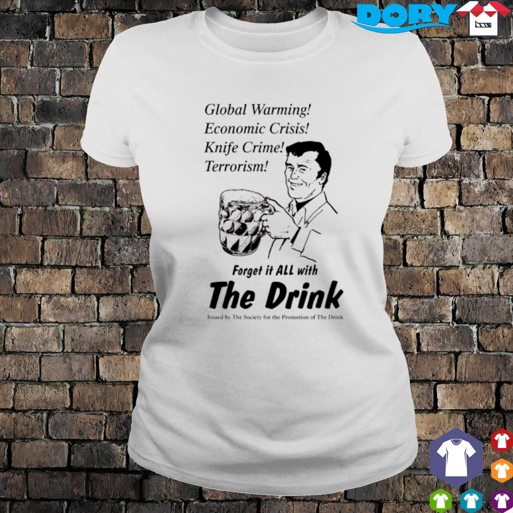 Global warming economic crisis knife crime terrorism s ladies tee