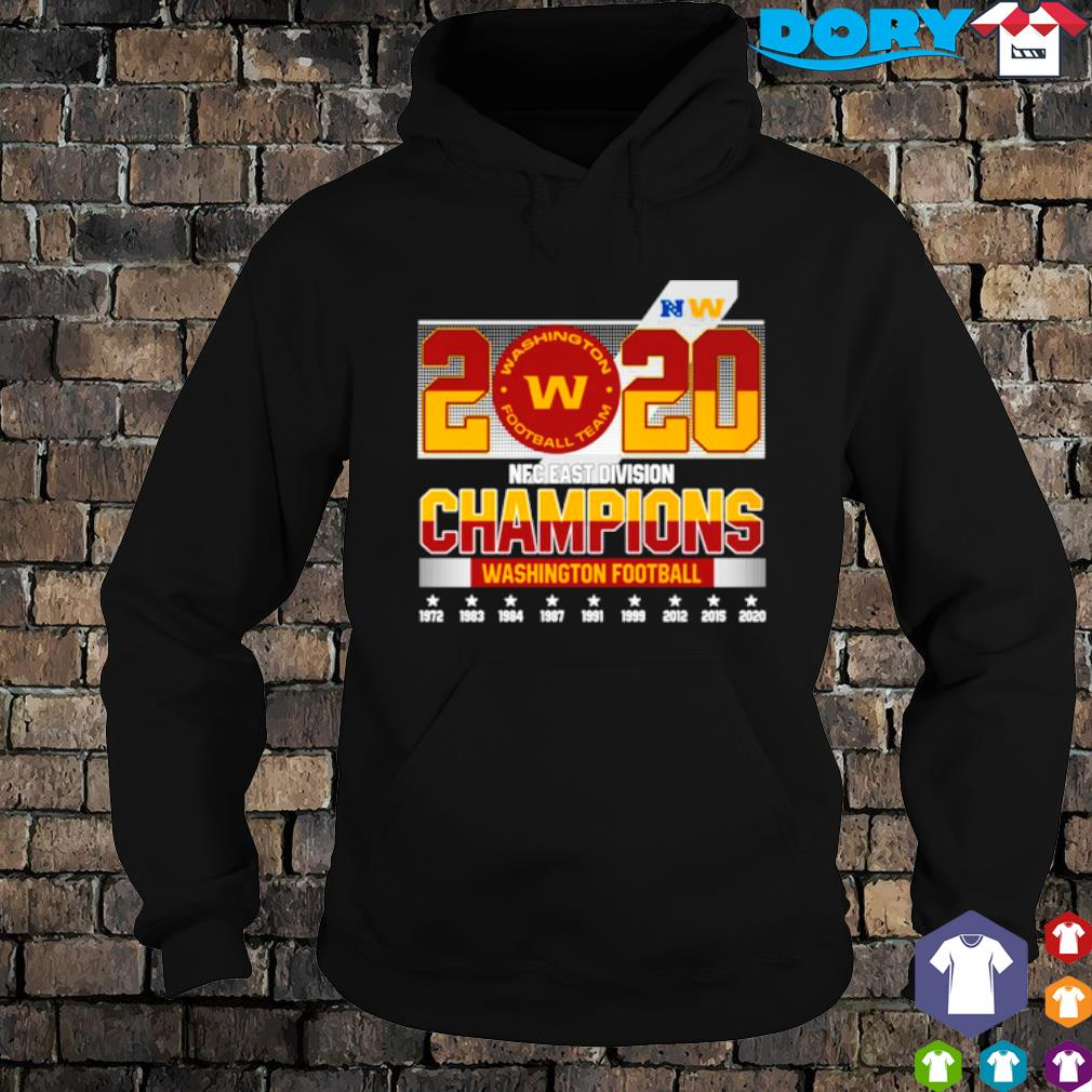 2020 NFC east division champions Washington Football team s hoodie