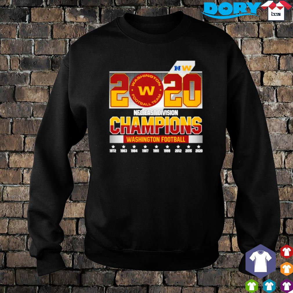 2020 NFC east division champions Washington Football team s sweater