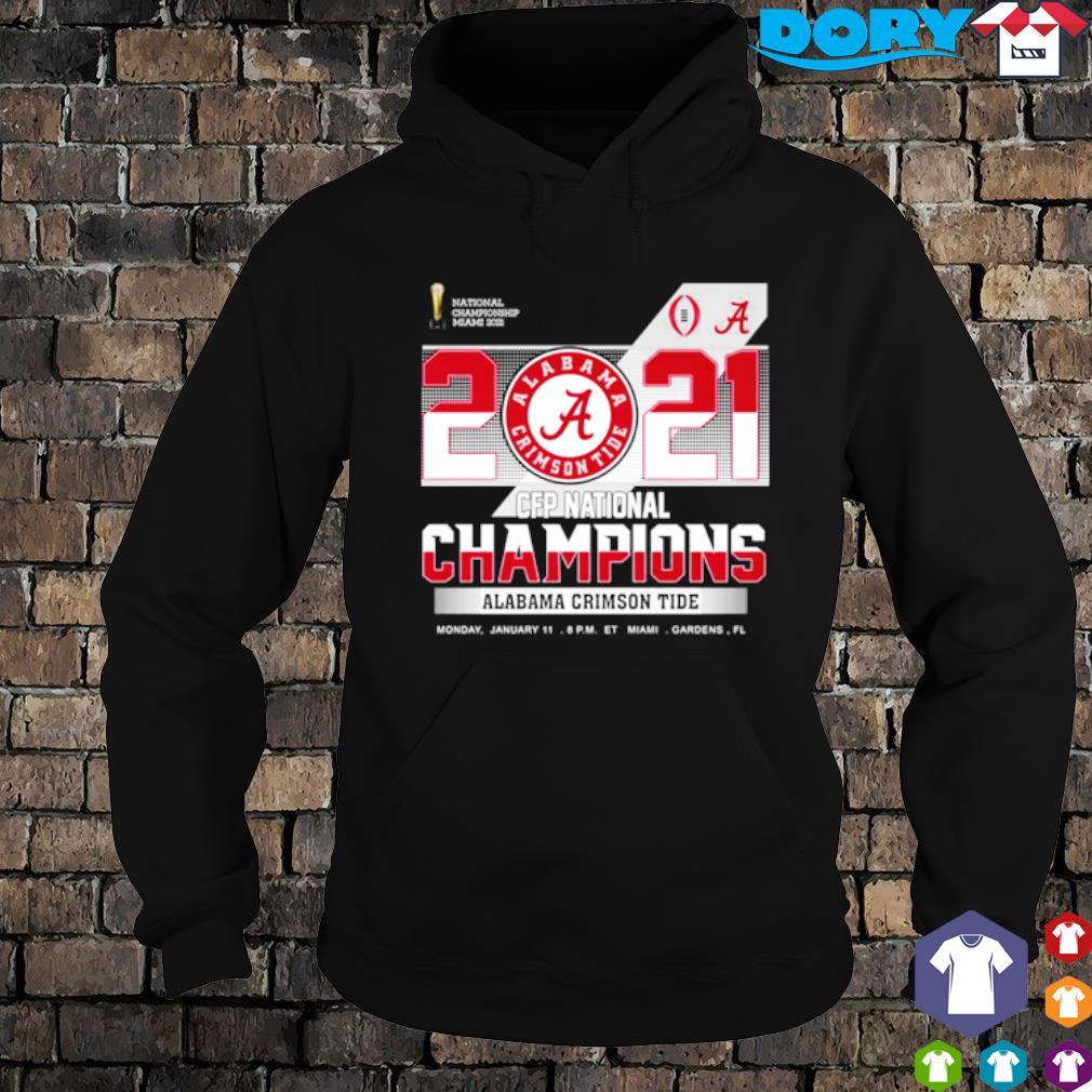 2021 CFP national champions Alabama Crimson Tide s hoodie