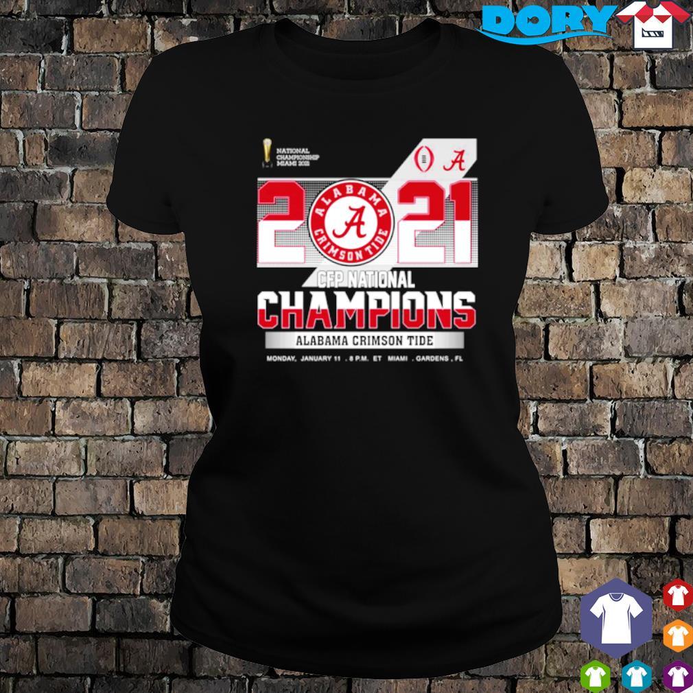 2021 CFP national champions Alabama Crimson Tide s ladies tee