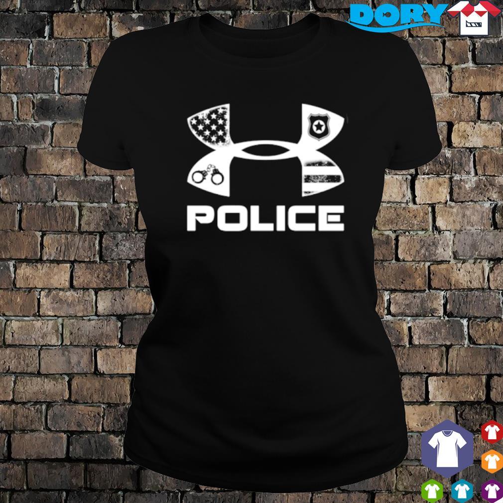 America Police Under Armour s ladies tee