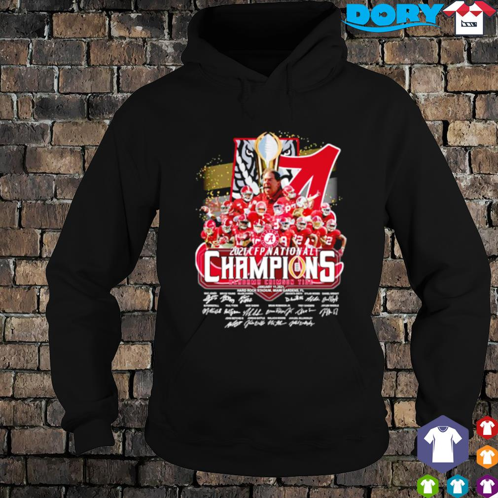 CFP national champions 18 time Alabama 2021 players signature s hoodie