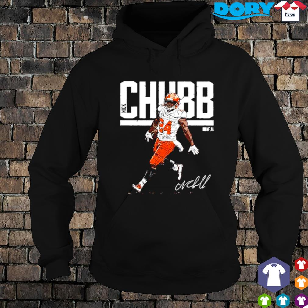 Cleveland Browns Nick Chubb signature s hoodie