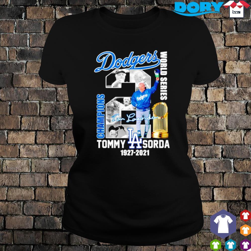Dodgers champions world series Tommy Lasorda s ladies tee