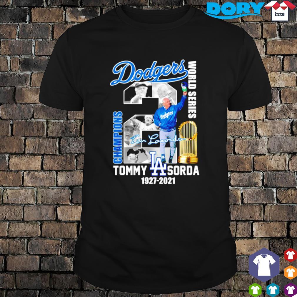 Dodgers champions world series Tommy Lasorda shirt