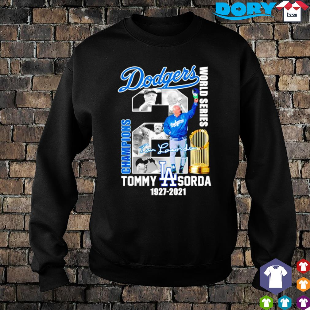 Dodgers champions world series Tommy Lasorda s sweater