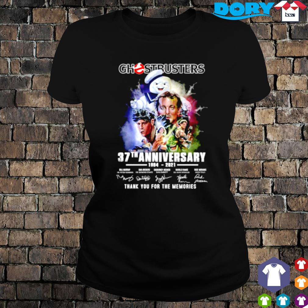 Ghostbusters 37th Anniversary 1984 2021 signature s ladies tee