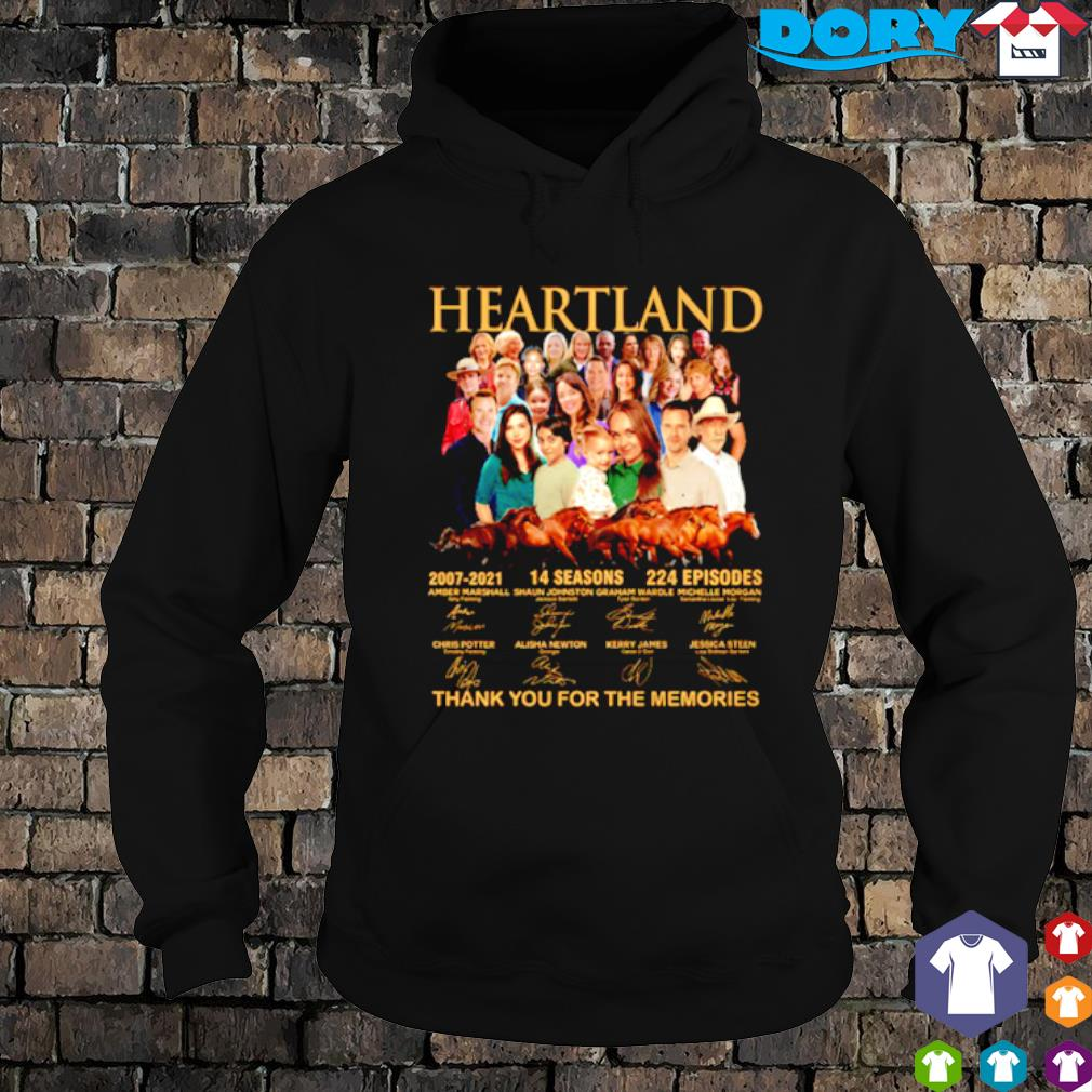 Heartland 2007 2021 14 seasons thank you for the memories characters signature s hoodie