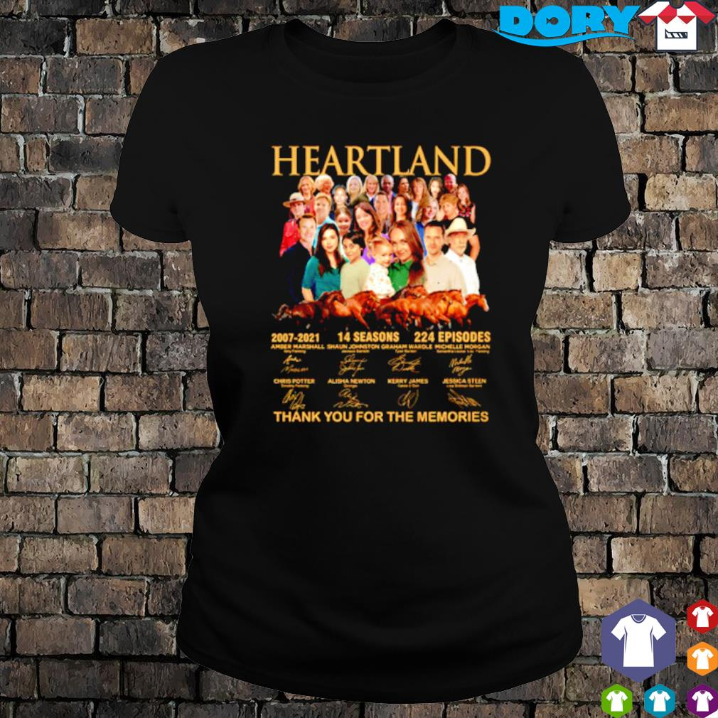 Heartland 2007 2021 14 seasons thank you for the memories characters signature s ladies tee