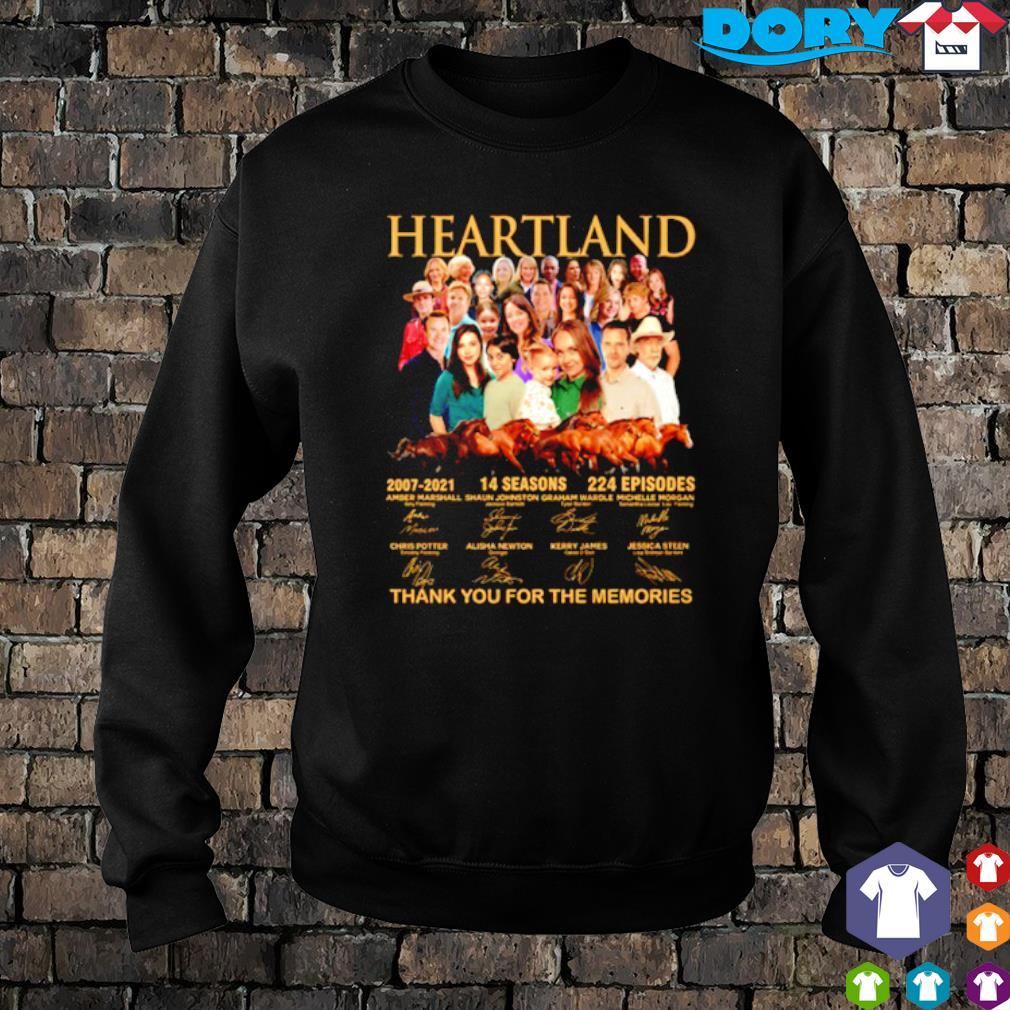 Heartland 2007 2021 14 seasons thank you for the memories characters signature s sweater