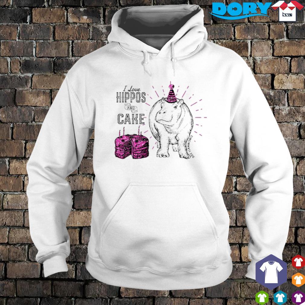 I love hippos and cake Cincinnati zoo s hoodie