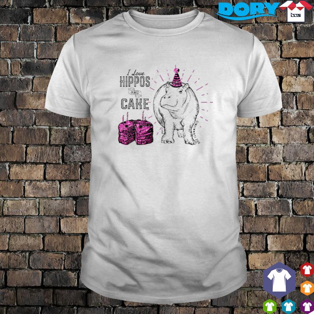 I love hippos and cake Cincinnati zoo shirt