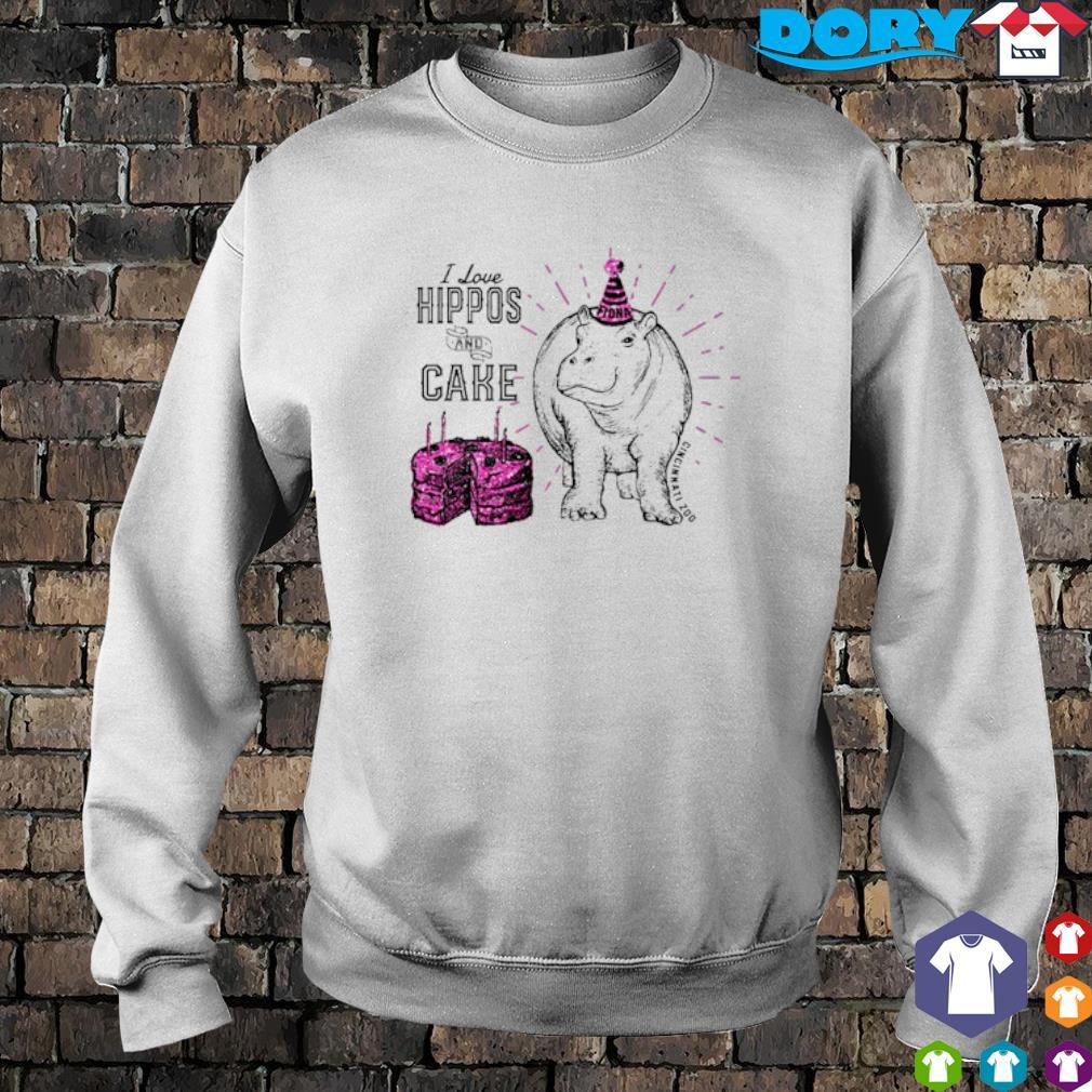 I love hippos and cake Cincinnati zoo s sweater