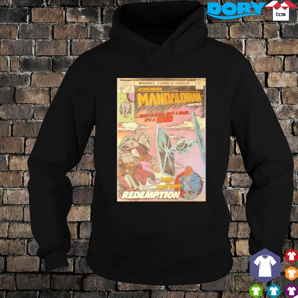 Marvel comic group Star Wars The Mandalorian Mando vs Moff Gideon redemption s hoodie