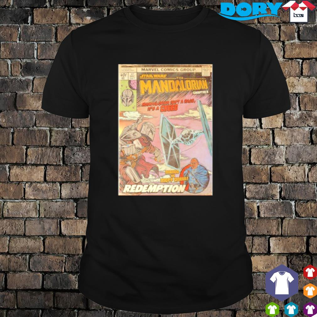 Marvel comic group Star Wars The Mandalorian Mando vs Moff Gideon redemption shirt