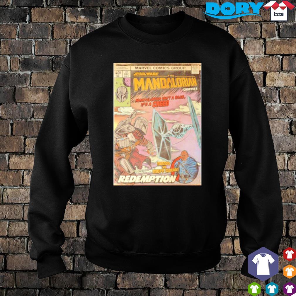 Marvel comic group Star Wars The Mandalorian Mando vs Moff Gideon redemption s sweater