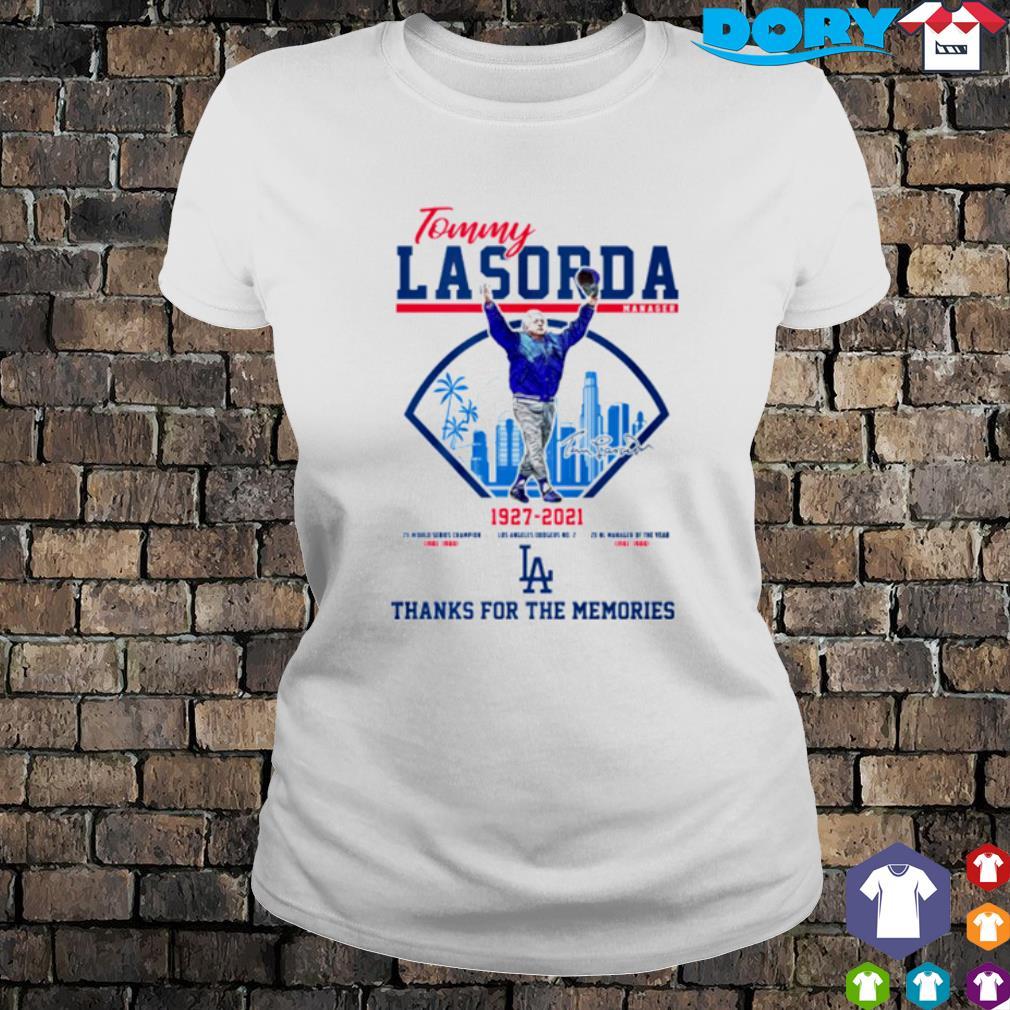 Tommy Lasorda 1927 2021 thanks for the memories s ladies tee
