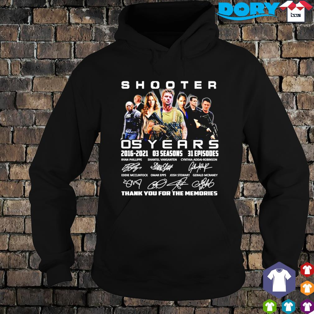 05 years of Shooter 2016 2021 thank you for the memories s hoodie