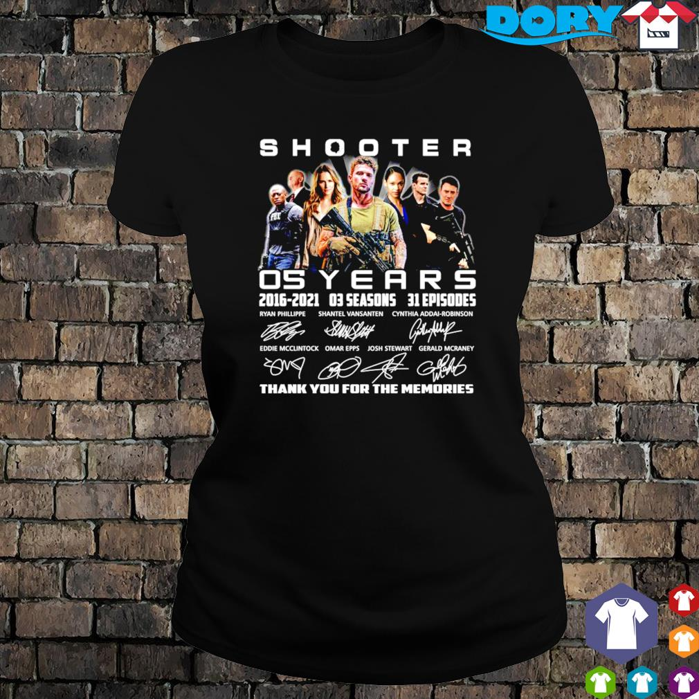 05 years of Shooter 2016 2021 thank you for the memories s ladies tee