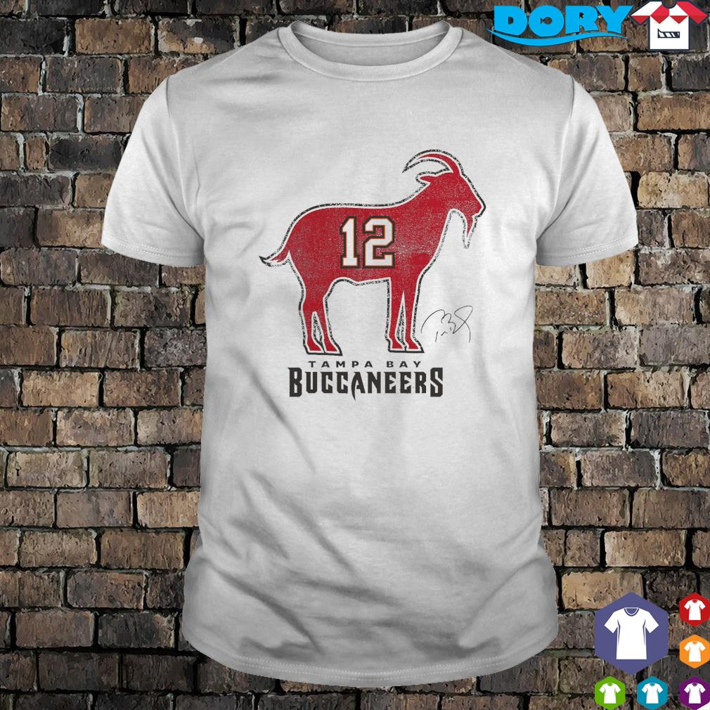 Tom Brady 12 Tampa Bay Buccaneers The Goat shirt